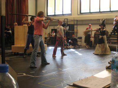 Mark Seibert and Willemijn Verkaik in rehearsal.