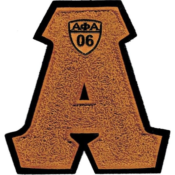 "Alpha Phi Alpha Letter Shield Chenille Sew-On Patch [Gold 5.75""W x... (€10) ❤ liked on Polyvore featuring home, home decor, office accessories and gold office accessories"