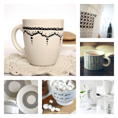DIY-painted porcelain - diy gift selected by #sfizzy