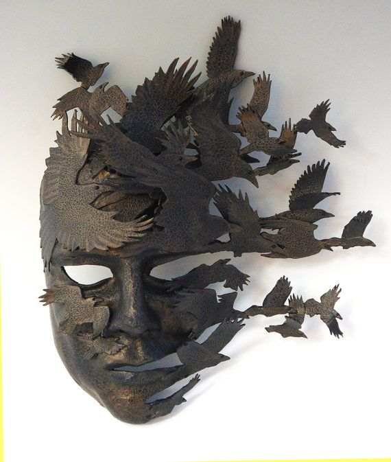 Corvus Flight by TheArtOfTheMask on Etsy