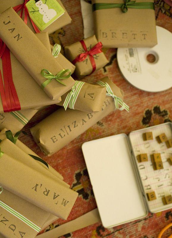 pretty christmas wrap