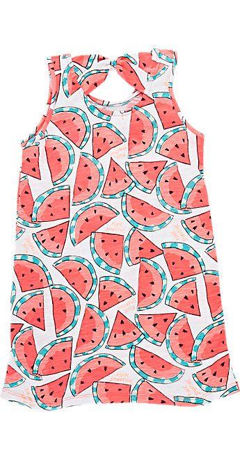 Billieblush Watermelon-Print Slub Jersey Dress - Dresses - Barneys.com