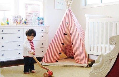 rot und weiß abgestreift einfachen Bedroom Interior Design Ideen Featuring spielen Zelten für Kinder passen alle modernen Heim-Homesthetics (18)