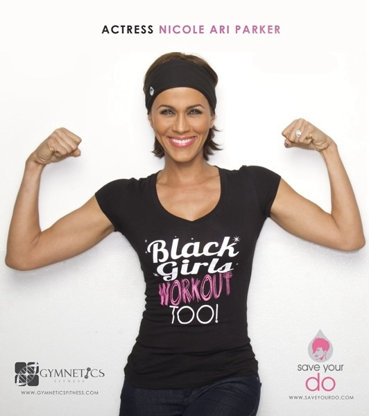 Work out! Got this shirt and the Save Your Do Gymwrap!