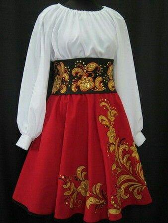 Сценический костюм в народном стиле