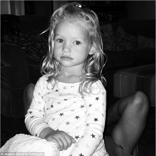 Her little girl: Jessica Simpson shared a cute photo of her little mini-me Maxwell on Instagram on Sunday
