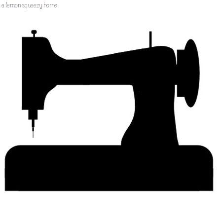 sewing machine graphic flock printable naaimachine