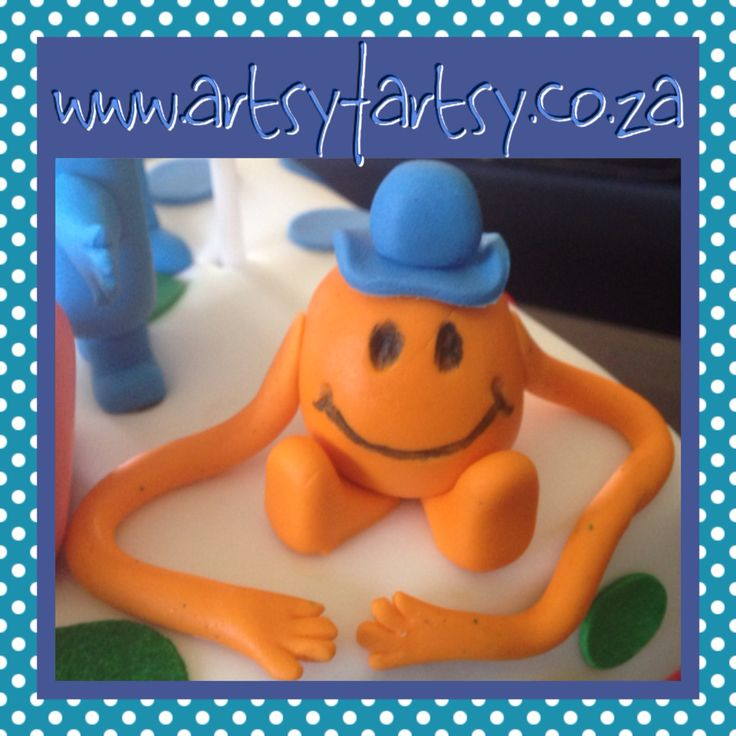 Mr Men, Mr Tickle Sugar Figurine #mrmensugarfigurine #mrticklesugarfigurine