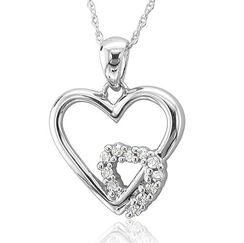 32 best will you be my valentine images on pinterest diamond 010 carat in 10k white gold heart diamond pendant necklace hi i mozeypictures Gallery