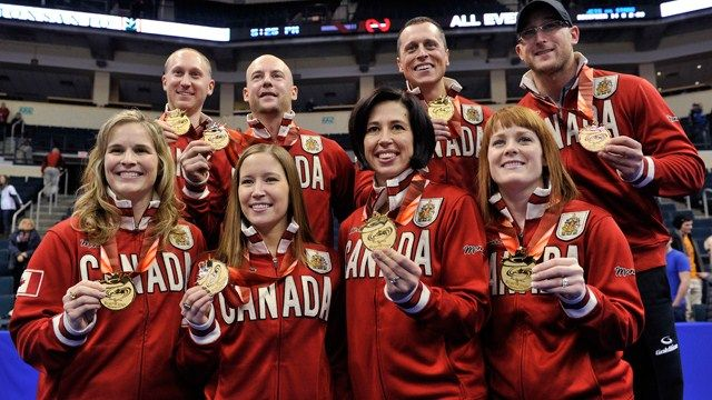 Canada gets the GOLD in women's and men's curling! Sochi 2014