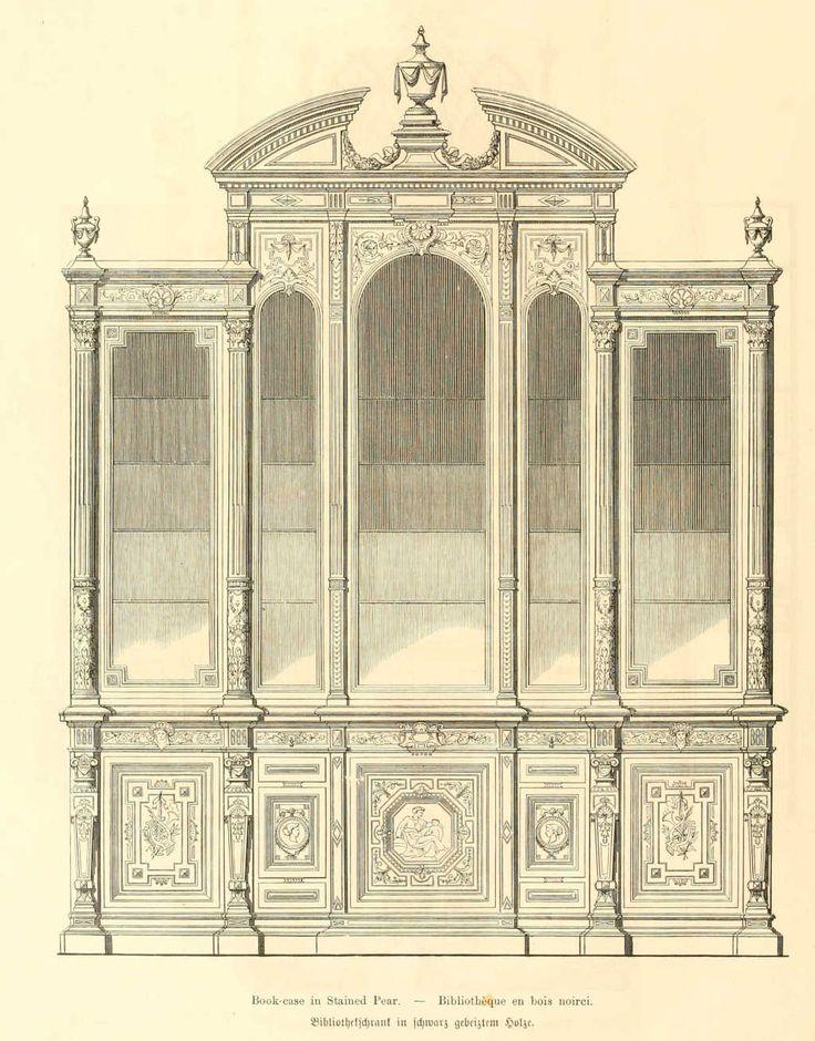 img/чертежи мебели мебель/мебель для библиотек деревянные noirci.jpg