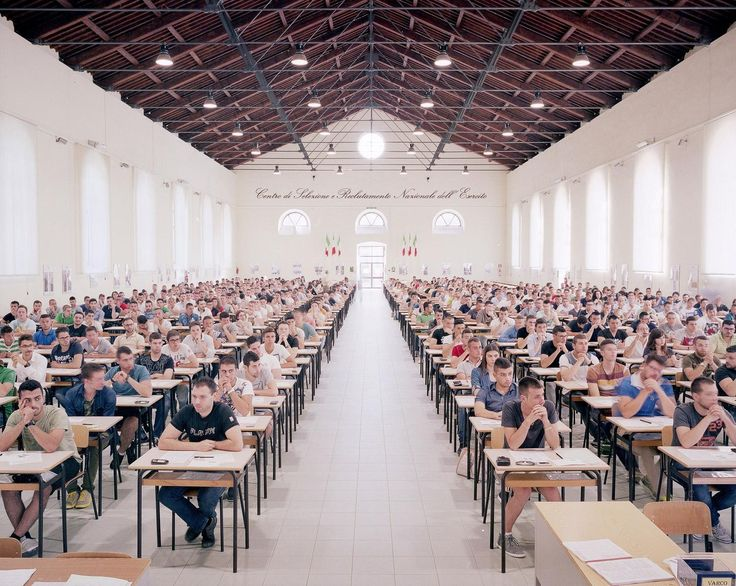 Finding a job sometimes feels impossible. Enduring an endless cycle of Google searches, resumes, and cover letters can leave you thinking everyone is after the same jobs you are. That's actually true in Italy, where thousands of people apply for any government position that comes up, and endure the rigorous tests needed to land one.  Michele Borzoni captures the impossible odds in Open Competitive Examinations, his photo series documenting the entrance exams that draw hundreds of people to