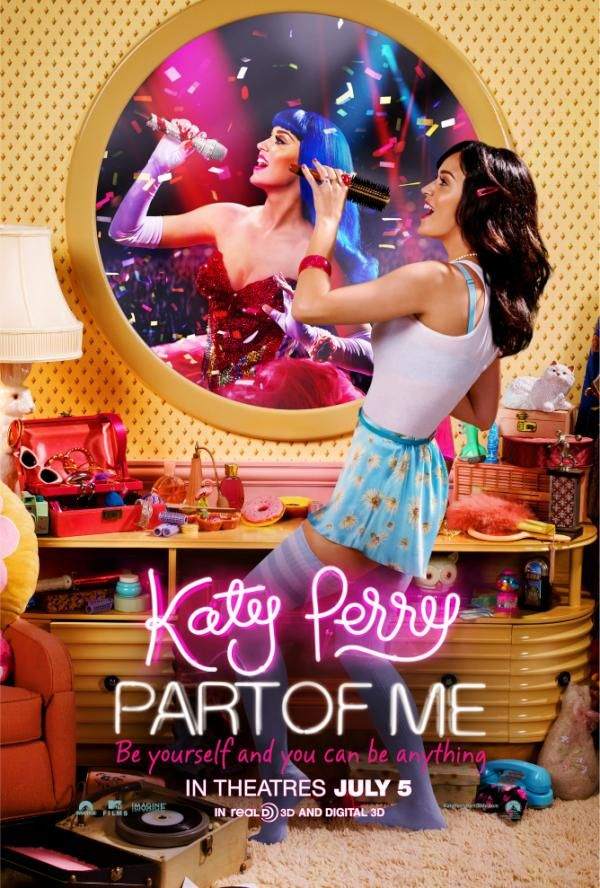 Katy Perry - So happy to share with you the official #KP3D movie poster … from a hairbrush to a headliner … get ready, JULY 5TH!