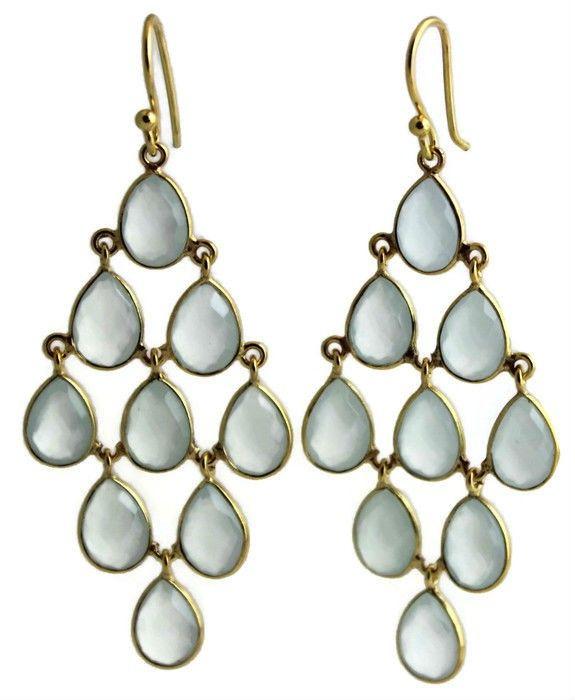 Hanne Aqua Chalcedony Chandelier Earrings