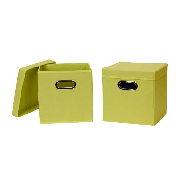 Household Essentials® Collapsible Fabric Storage Bins With Lids (Set Of 2)
