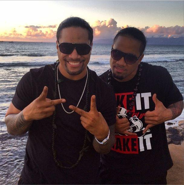 Jon & Josh Fatu (The Usos) in Hawaii