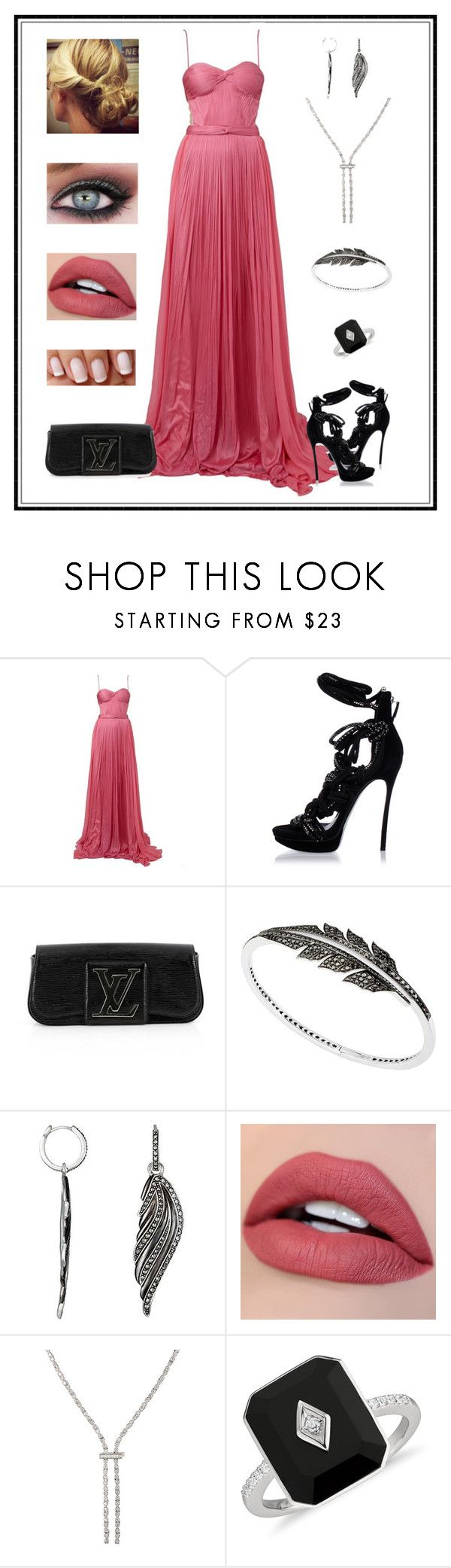 """""""Untitled # 740"""" by binasa87 ❤ liked on Polyvore featuring Maria Lucia Hohan, Dsquared2, Louis Vuitton, Stephen Webster, Black Swan and Deborah Pagani"""