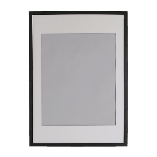 RIBBA Frame IKEA The mat enhances the picture and makes framing easy. The mat is acid-free and will not discolor the picture.
