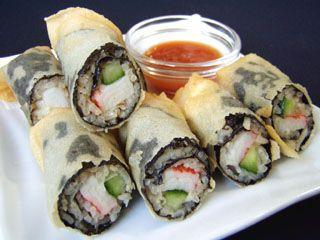 Sushi Spring Rolls ( Kao Hur Sa Rai Tod )