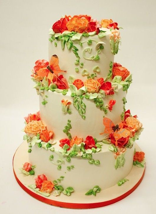 pictures of orange and green wedding cakes 368 best images about wedding cakes garden on 18416