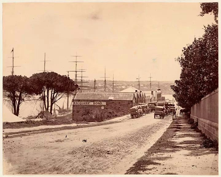MacQuarie St,Sydney looking north towards Bennelong Point in the 1870s.Photo from State Library of NSW.A♥W