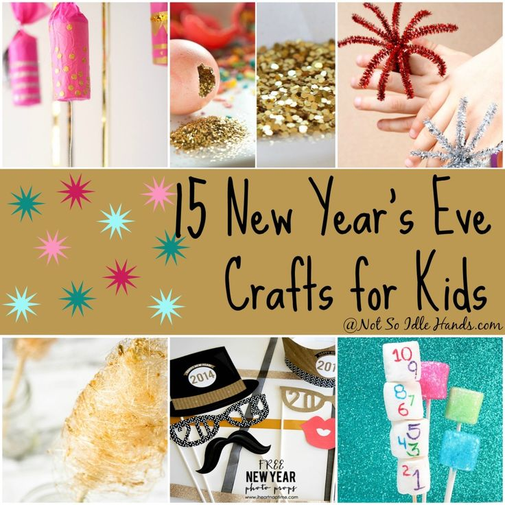 Charming New Years Craft Ideas For Kids Part - 5: Find This Pin And More On Noon Years Eve. 15 New Yearu0027s Crafts And  Activities For Kids