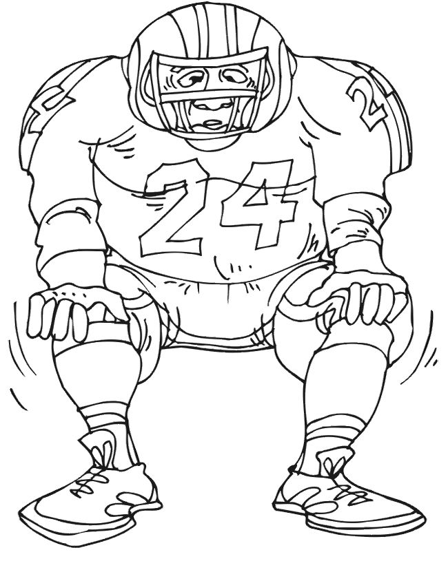 coloring pages football player - photo#22