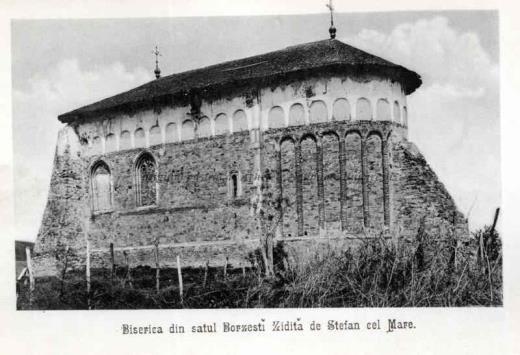 BU-F-01073-5-00256 Biserica din satul Borzeşti, ridicată de Ştefan cel Mare, s. d. (sine dato) (niv.Document)