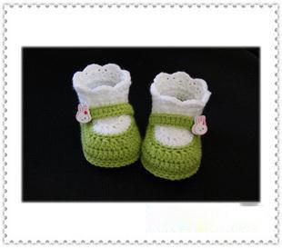 Handmade Crochet Baby Shoes Crocheting Baby Shoes Knitting Shoes for Newborn(LJ029)