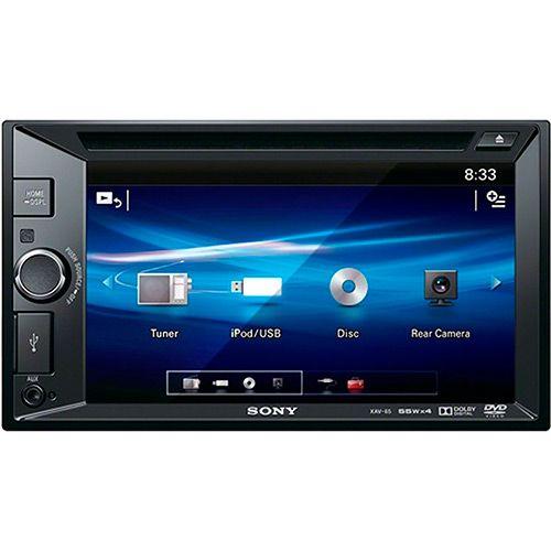 """Americanas DVD Player Digital Automotivo Sony XAV-65 com Tela de 6,2"""" USB Auxiliar 2 Saídas RCA - R$568"""