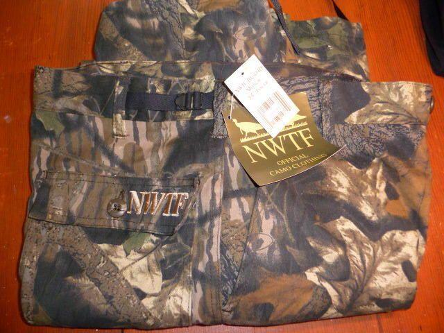 NWT $35 NWTF mens camo pants sz M  34 x 34  6 pockets hunting fishing outdoors #NWTF