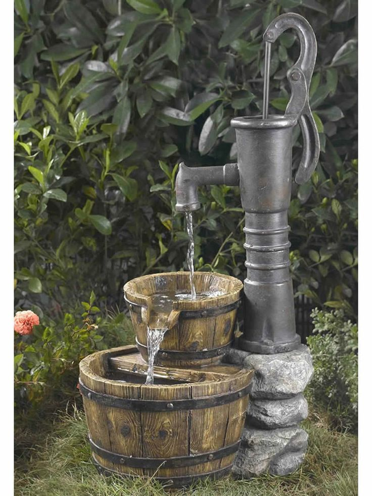 Best 25 old water pumps ideas on pinterest for Backyard water fountains