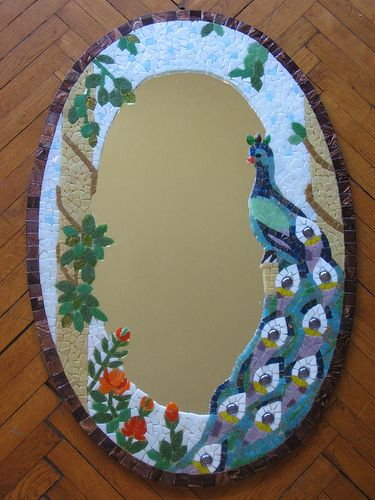 Mosaic Peacock Mirror