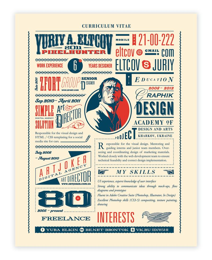 89 best Curriculum Vitae images on Pinterest DIY, Best cv - graphic design student resume