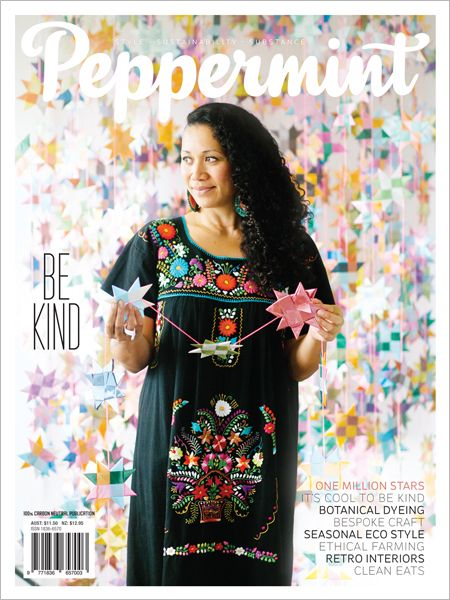 Exploring Kindness and connecting with craftspeople in this issue of Peppermint magazine.