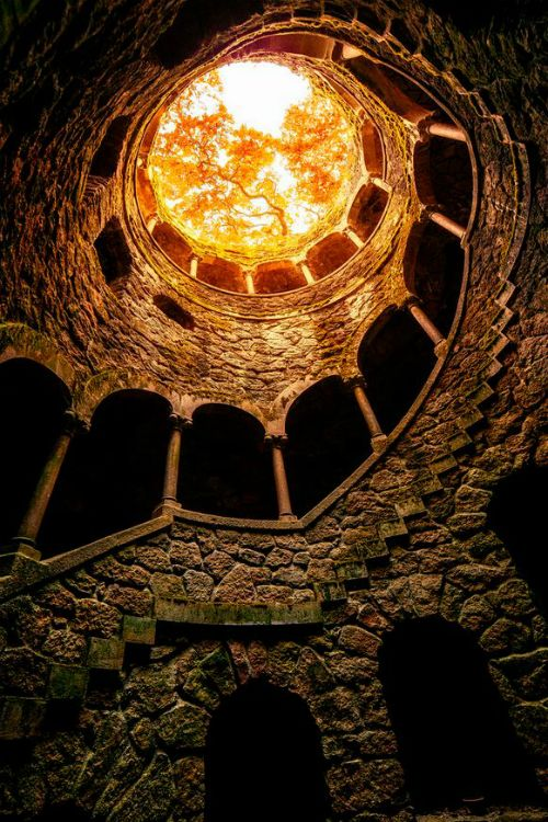 Initiation Well of Quinta da Regaleira, Sintra, Portugal by Mr FRIKS colors