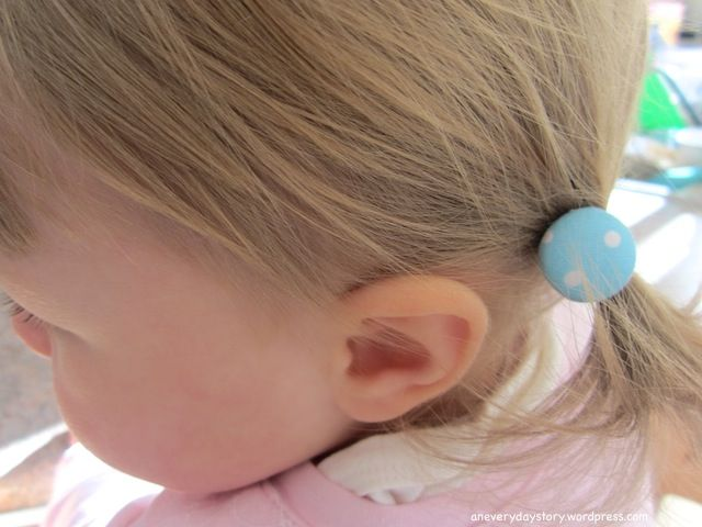 covered button hair ties tutorial