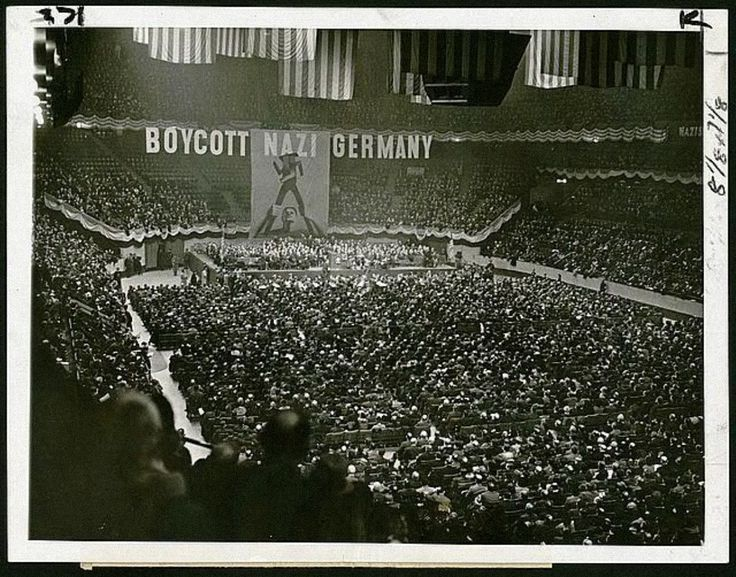 Rally against Nazism in New York, Madison Square Garden 1937