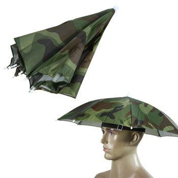 55cm Umbrella Hat Sun Shade Camping Fishing Hiking Festivals Outdoor Brolly Umbrellas