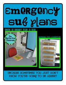 This takes my sub binder to a whole new level: Emergency Sub Plans, Good Ideas, Clutter Free Classroom, Sub Tubs, Clutter Fre Classroom, Clutterfre, Substitute Teacher, Classroom Organizations, Free Printable