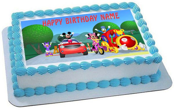 Mickey Mouse Clubhouse 1 Edible Birthday Cake Topper OR Cupcake Topper, Decor