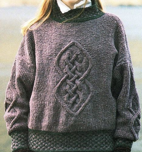 Iona Sweater by Alice Starmore, in sport  Published in  The Celtic Collection