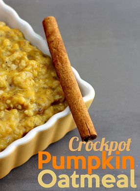 Wake up this fall to this delicious crockpot pumpkin oatmeal.