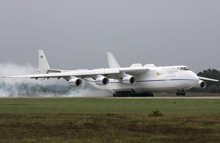 """Antonov An225 #antonov #an225 #mriya The Antonov An-225 Mriya is a strategic airlift cargo aircraft that was designed by the Soviet Union's Antonov Design Bureau in the 1980s. The An-225's name Mriya (Мрiя) means """"Dream"""" (Inspiration) in Ukrainian. It is powered by six turbofan engines and is the longest and heaviest airplane ever built with a maximum takeoff weight of 640 tonnes. It also has the largest wingspan of any aircraft in operational service. The single example built has the…"""