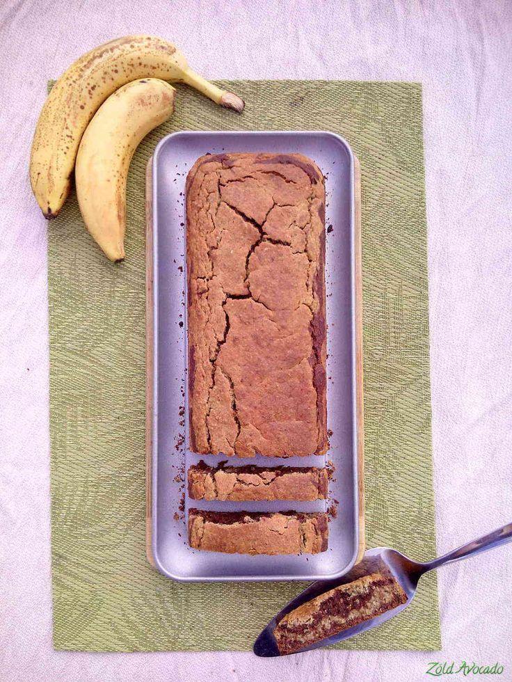 Pikk-pakk kész, banános zabpelyhes sütemény, akár reggelire is (laktózmentes, tojásmentes, vegán) / Recept / zabpehely, rizsliszt, kókuszcukor, kakaópor/karob por, kókuszolaj, lenmag, banán