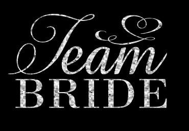 Custom Team Bride Glitter Heat Transfer Iron On by TheCraftyVixen