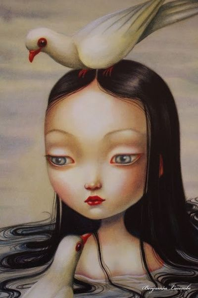 Illustration by Benjamin Lacombe for Snow White (detail)
