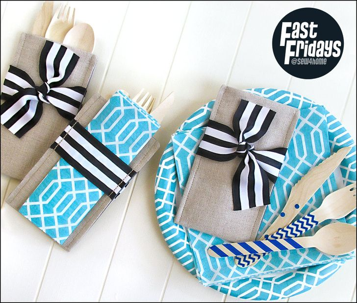 Fast Fridays: Special Occasion Cutlery Pockets | Sew4Home