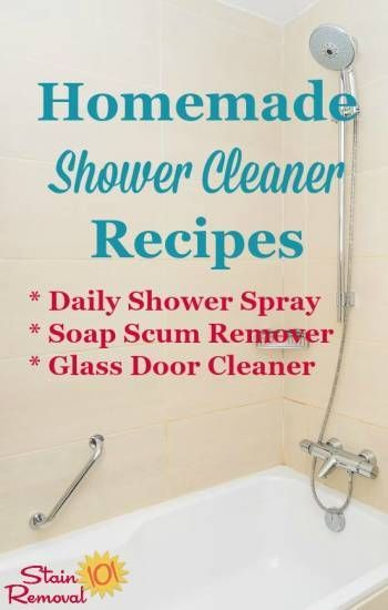 Homemade Shower Cleaner Recipes: For Daily Use U0026 Heavy Duty