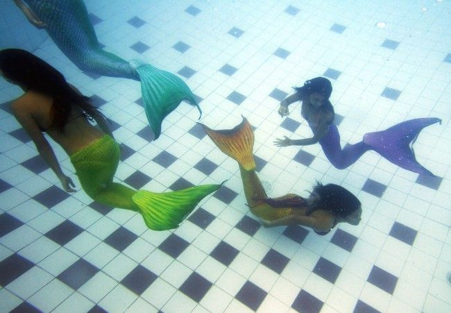 Mermaid Swimming Academy in the Philippines